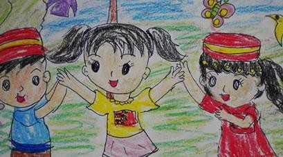 手拉手活动图片 男孩女孩手拉手的简笔画简单画法