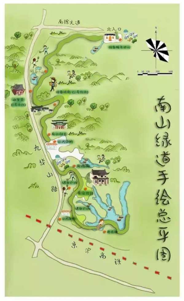 """镇江南山绿道路线图 镇江人自己的""""森林氧吧"""""""