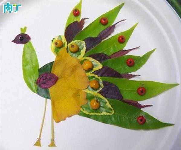 银杏叶的叶子可以拼成什么图片 各种动物树叶拼贴画的