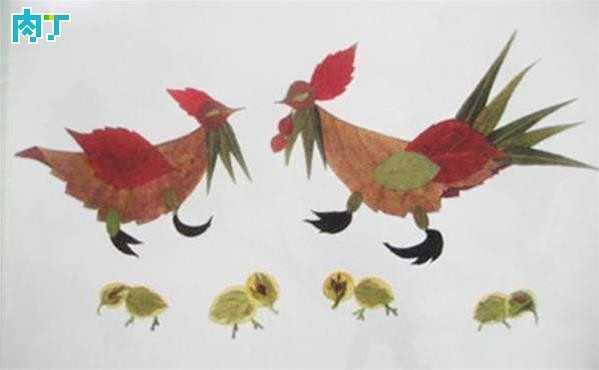 热门  树叶粘贴画图片——孔雀开屏  树叶,是我们身边唾手可得的资源.